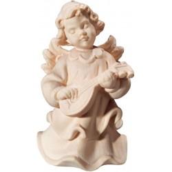 Engel mit Mandoline aus Ahorn - Natur