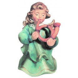 Angel with Heart carved in maple wood Wooden Angel Crafts - painted