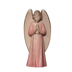 the Praying Guardian Angel - Dolfi Angels wood - Made in Italy - Red cloth