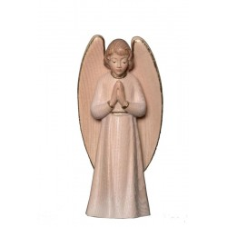 the Praying Guardian Angel - Dolfi Angels wood - Made in Italy - White cloth