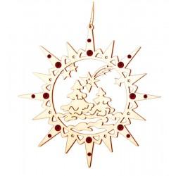 Stella con atmosfera natalizia con cristalli Swarovski