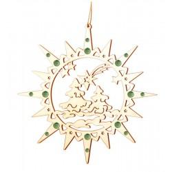 Stern mit Weihnachtsatmosphäre mit Swarovski Kristalle