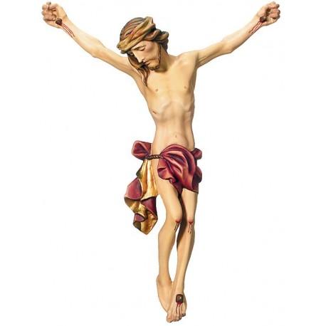 Gesù corpo di Cristo in legno - drappo rosso