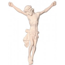The body of Jesus Christ hand carved in italian maple wood - natural