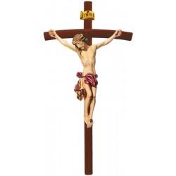Corpo di Cristo finemente raffigurato in legno - drappo rosso