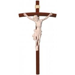 Body of Jesus Christ on Curved dark brown - natural