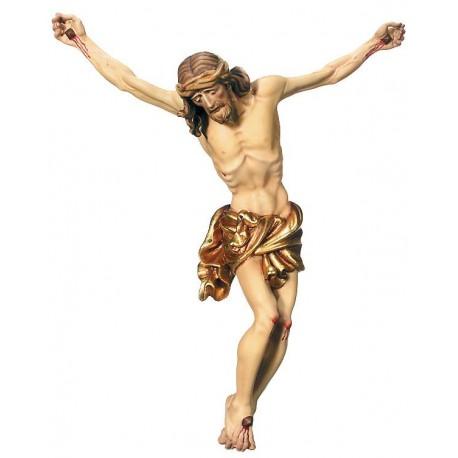 Jesus Christus Körper barock in Ahornholz - Vergoldetes Tuch