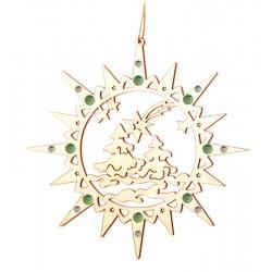 Star with Christmas Atmosphere and Swarovski crystall