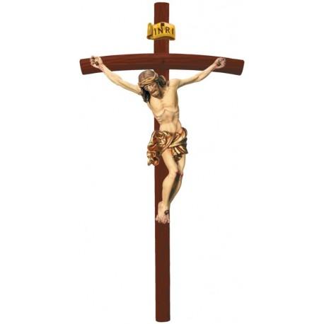 Christuskörper auf gebogenen Balken - Vergoldetes Tuch