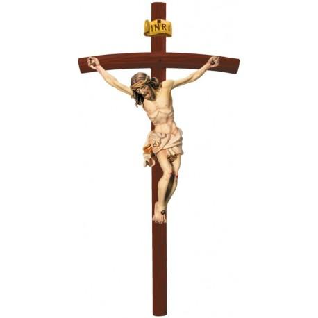 Christuskörper auf gebogenen Balken - Weißes Tuch