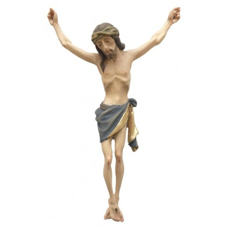 Christuskörper mit Dornenkrone - Blaues Tuch