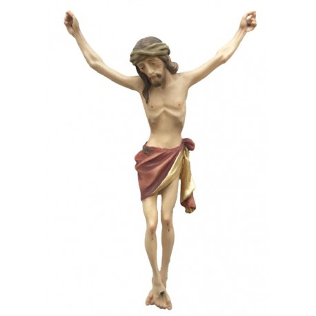 Christuskörper mit Dornenkrone - Rotes Tuch