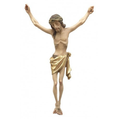 Christuskörper mit Dornenkrone - Vergoldetes Tuch