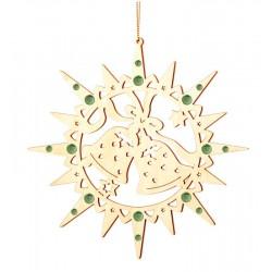 Star with Christmas bells and Swarovski crystall