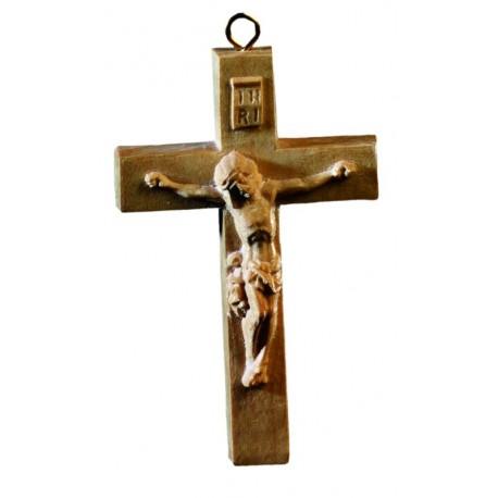 Rosenkranz-Kreuz aus Olivenholz - Natur