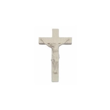 Crocifisso scolpito in legno per rosario - naturale