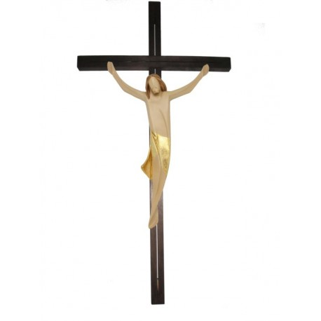 Christuskörper und Balken gerade - Vergoldetes Tuch