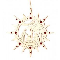 Star with Crib and Swarovski crystall