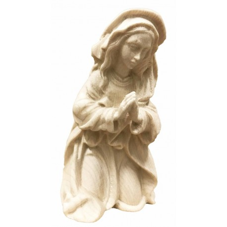 Mary, Mother of Jesus carved in maple wood  - Dolfi Deluxe Olive wood Nativity Set - Made in Italy - natural