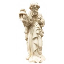 Heiliger Josef Holz Krippenfigur - Natur