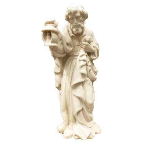 Saint Joseph carved in maple wood  - Dolfi carved Nativity Scene - Made in Italy - natural