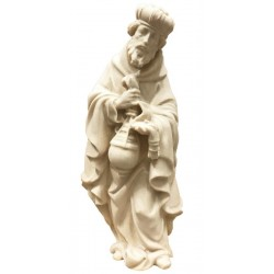 Wise Men Melchior for wood nativity scene - natural