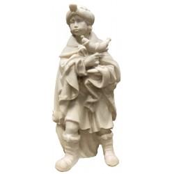 König Mohr aus Ahornholz geschnitzt, diese Holzschnitzerei ist eine wichtige Südtiroler Holzfigur - Naturbelassen
