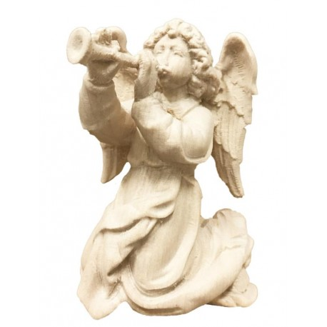 Angel with Trumpet carved in maple wood  - Dolfi Vintage Nativity Sets Made in Italy - Made in Italy - natural