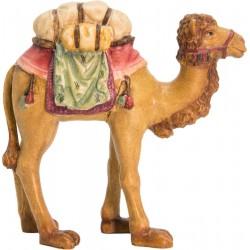 Kamel mit Sattel aus Holz - lasiert