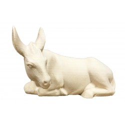 Donkey carved in wood - natural
