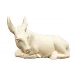 Esel aus Ahornholz geschnitzt von Südtiroler Schnitzer, diese Kreation ist in Gröden hergestellt - Naturbelassen