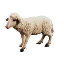 Stehendes Schaf - Leicht mit Ölfarben lasiert