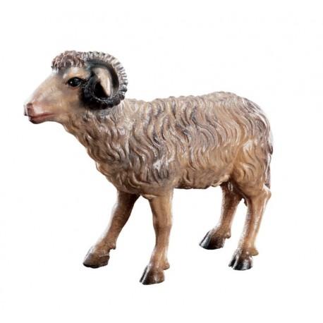 Ram standing wood Nativity - color