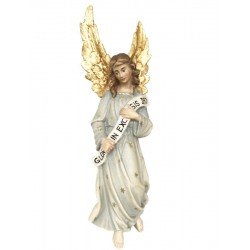 Gloria Angel carved in maple wood  - lightly colored with oil paint