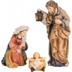Heilige Familie aus Ahorn ohne Krippenstall - lasiert