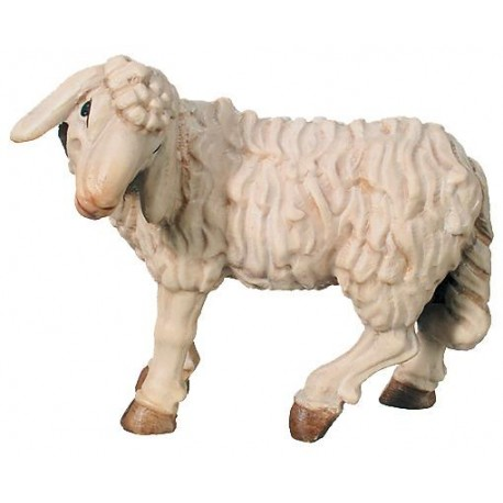 Sheep standing, Animals, wood carving - color