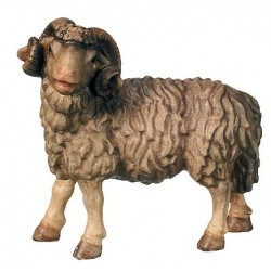 Ram carved in maple wood  - the size of the animal is in Proportion to the size of the Figures - oil colors