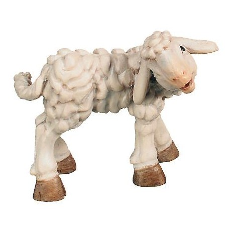 Lamb wood carving - color