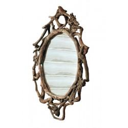 Runder Spiegel aus Waldwurzeln