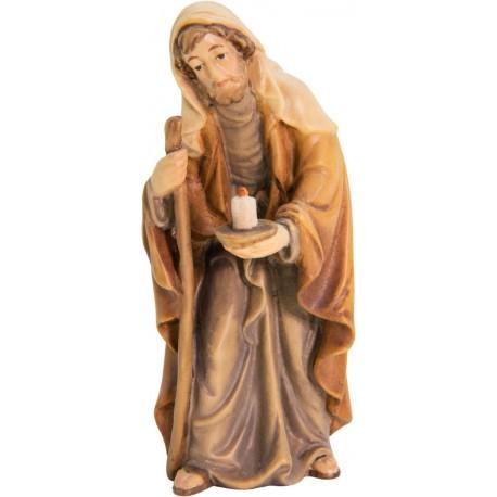St. Joseph - Male saint - wood carving - color