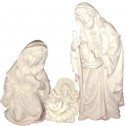 Holy Family - Dolfi small Nativity Figures - Made in Italy - natural