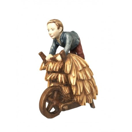 Shepherd with Cart in wood - color