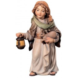Jung Shepherd with Lantern and - Dolfi Three Wise Men Figurines - Made in Italy - oil colors