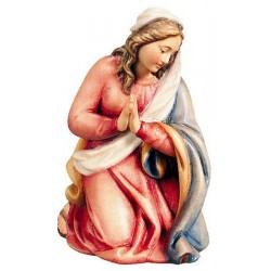 Mary carved in maple wood - color