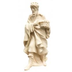 König Weiss aus Ahornholz geschnitzt - Naturbelassen