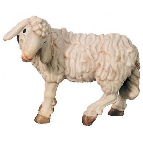 Statuina presepe pecora in legno prezzo - colorato a olio
