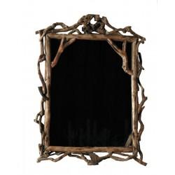 Rechteckiger Spiegel aus Waldwurzeln
