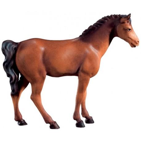 Cavallo bruno in legno - colorato a olio