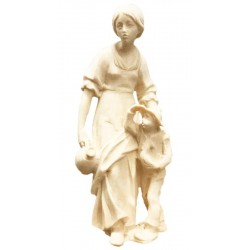 Shepherdess with Boy - Dolfi Nativity Scene Outdoors - Made in Italy - natural