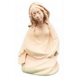 Mary wood carved nativity set - natural